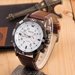 Cool Outside Business Man watches WEITE Watch Cycling Sports watches Leather Strap quartz Racing wristwatches for men