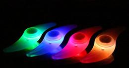 Luces del coche rojo en Línea-coche para Bicicleta luces LED de la motocicleta eléctrica accesorios de bicicleta de color rojo azul verde amarillo colores flash de luz de alarma Ruedas rayos de la lámpara de silicona
