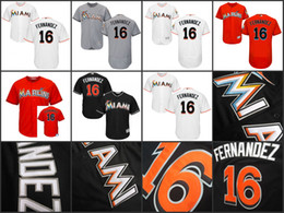 Wholesale 2015 Miami Marlins Jerseys Jose Fernandez Men s Authentic cool base and flesbase Stitched Baseball Jersey S XL