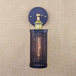 Wholesale Retro black vintage metal wall lamp led e27 lights for workroom Bedroom bar Vanity Lights porch light art deco stair night light