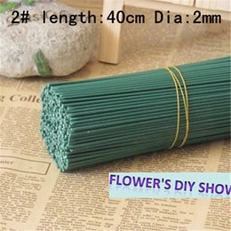 50pcs or 100pcs lot 2# 3# iron wire for flowers stems nylon flower wire diy accessories floral wire for flowers