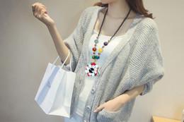 Folk style sweater chain necklace long winter RETRO art fan turquoise color flower female pendant accessories