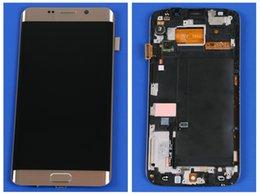 2016 écrans lcd samsung Samsung AAA + Ecrans d'affichage à cristaux liquides de meilleure qualité Samsung S6 Pantalla Remplacement avec écrans tactiles Moniteur de numérisation LCD pour Samsung s6 edge peu coûteux écrans lcd samsung