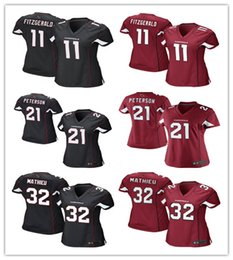 Wholesale Women Cardinals Larry Fitzgerald Patrick Peterson Tyrann Mathieu Carson Palmer football Jerseys black red rugby shirts