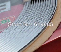 Wholesale 5m Silver U Style Trim Car DIY Molding Door Edge Guards Protectors Stikers For B M W VW Ford Mazada CX Acura Camry