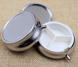 Wholesale 100pcs Metal Pill boxes DIY Medicine Organizer container silver