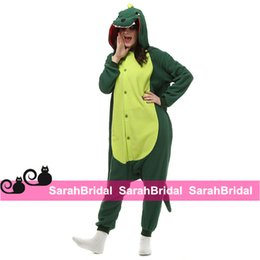 Wholesale Green Dinosaur Anime Cartoon Cosplay Costumes Comfy Leisure Animal Onesies Pajamas Jumpsuit for Teens Adults Mens Womens Tail Homewear Cheap