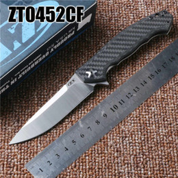 Wholesale 2016 NEWER ZT Zero Tolerance CF carbon fibre TC4 S35VN D2 titanium alloy High Quality ZT Folding Knife freeshipping