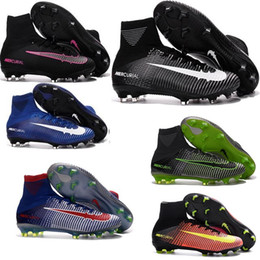 Wholesale Kids Cheap High ANkle Football Boots Superfly Men Soccer clEats Superfly FG AG Indoor Magista bhm HypeRVEnom Size Soccer shoes