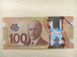 Wholesale Earliest edition Money banknote CAD100 for Movie props and Education bank staff training paper fake money copy money children gift