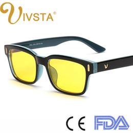 Wholesale IVSTA Anti Blue Ray Computer Glasses Gaming Eye Strain Relief Eyewear Men Anti Glare radiation UV400 yellow lenses frame Custom logo