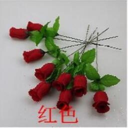 Wholesale Simulation of artificial flowers silk flower manufacturers Spring Bud small single branch of roses roses row sign