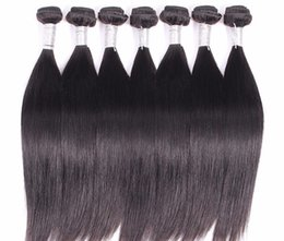 Wholesale price brazilian human hair pieces lote straight hair weft remy hair g piece natural color can be dyedable