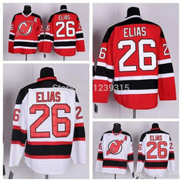 2017 patch patch bon marché 2016 Vente en gros New Jersey Devils Hockey Jerseys # 26 Patrik Elias Jersey Accueil Red Road Away blanc Cheap chandails cousus Chine Un patch bon marché patch patch bon marché