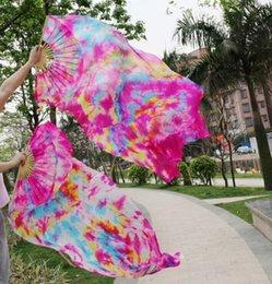 2016 sales of 100% high-quality silk handmade silk veil belly dance fan, Defilements 180 * 90 cm one pair of dress