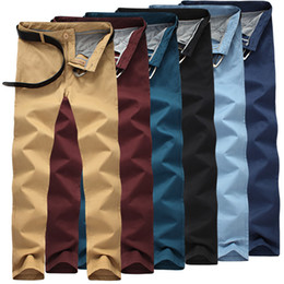 Wholesale-2016 New Hot Sell Mens Pants Trousers Classic Male Casual Fashion Pants Chino Pants Chinos