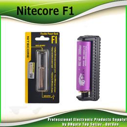 Original Nitecore F1 charger Flexible Intellicharger E Cigarettes battery usb Charger for 18650 18500 14500 Li-on Batteries 100% genuine