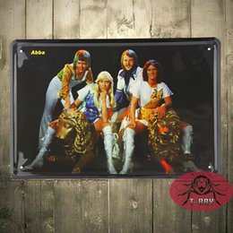Wholesale Metal sign Shabby chic ABBA Tin decorative wall plaque gift G