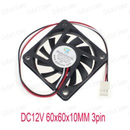 Wholesale 5 Pieces Pin DC V CPU Brushless Cooling Cooler Fan mm cm x60x10mm cpu international