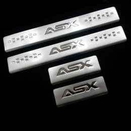 Wholesale For Mitsubishi ASX External Door Sill Accessories Stainless Door Sills Scuff Plate Gaurds Pedal Protector Car Stickers set