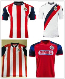 Wholesale 2016 new Mexico s Club Soccer Jersey Chivas Guadalajara camisetas de futbol New Red white O BRAVO REYNA DE NIGRIS ARCE football Shirts