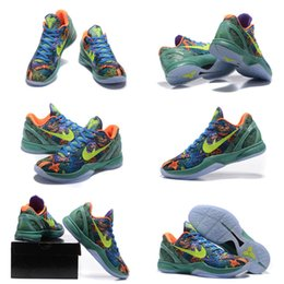 Wholesale With shoes Box Hot Sale Kobe VI Prelude vi x htm grinch bhm big stage purple Men Shoes