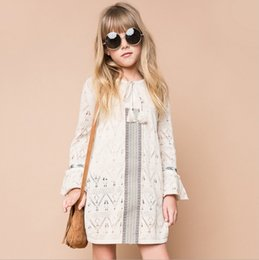 Wholesale Hug Me Big Girls Sweater Dress Christmas Kids Clothing Autumn Lace Tutu Dress Fashion Long Sleeve Tassels Dress AA