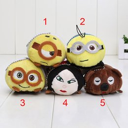 Wholesale 9 cm styles Plush toy animated film Despicable Me plush dolls stuffed toys cute screen wipe phone strap