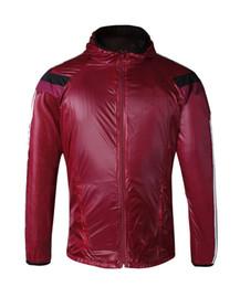 Wholesale Men s Outdoor Lightweight Running Jacket Jogging Fitness Workout Red Hoodie Sportswear Windproof Waterproof Quick Dry Traning Jacket