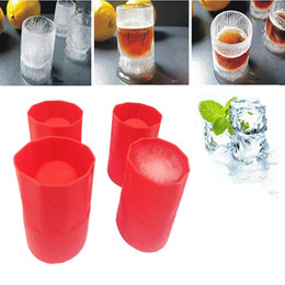Wholesale 200pcs Bar Party Drink Ice Tray Cool Shape Ice Cube Freeze Mold Ice Maker Mould One More Cup In Summer Ice Mold Cup ZA0563