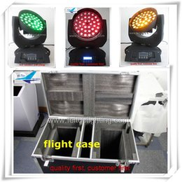 Free shipping 2pcs lot with flight case 36x18w 6in1 led zoom moving head rgbaw uv zoom moving head