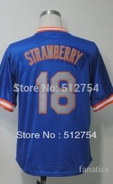 Wholesale 2015 New Darryl Strawberry Jersey Throwback Baseball Jersey Best quality Embroidery Logos Authentic Jersey Size M XL Can Mix Order