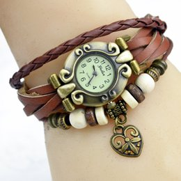 Wholesale Christmas Rope Bracelets - 2016 Newest Watch Bracelet Fashion Watch Bracelet Hand Woven Vintage Bracelet Watches Christmas Gift The Lover Pattern Watches