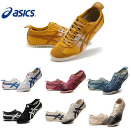 Wholesale Asics Shoes Men Women Onitsuka Tiger Running Shoes Original Sheepskin Cheap Jogging Sneakers Size