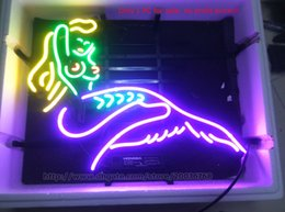 Wholesale Mermaid Neon Sign Bar KTV Store Club Beauty Real Glass Tube Advertising Display Decoration Neon Signs quot X15 quot Hot Sale