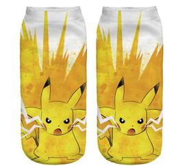 Wholesale 2016 Anime Pikachu team valor Polyester socks Graphic Poke ball GO Gym Team short Socks Cute funny Socks slipper women ankle tube Hosiery