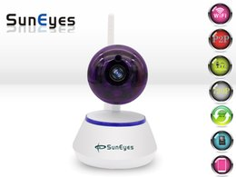 Wholesale SunEyes SP S701W P HD Mini P2P IP Camera Wireless Wifi Pan Tilt Two Way Audio Video Push Alarm with Motion Detection Free APP