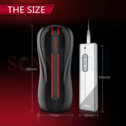 Wholesale Leten Fantasy Electric Hip Dual Engine Modes Vibration Male Hands Free Masturbator w Strong Sucker Adult Sex Toys for Men