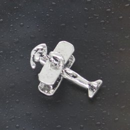 Wholesale Come on Guys airplane plane Charms Pandora Antique Silver Alloy Jewelry Fit For Bracelet Pendant Necklace Man Woman mm
