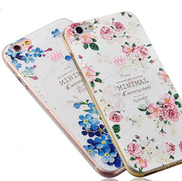 For Apple iPhone 6 6s Plus 3D Embossing Soft Silicone TPU Back Cover Case With Dust Plug For iPhone 6 6S Phone Case
