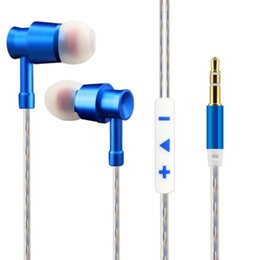 Wholesale High quality Headphone In ear Professionally Ergonomic Metal Headphones Cell Phone Earphone Super Bass With Self Picture Function