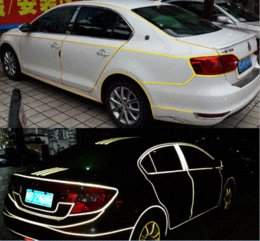 Wholesale CM x Meter DIY M Reflective Sticker Automobile luminous strip car amp motorcycle amp bicycle Decoration Sticker FreeShipping Cheap s