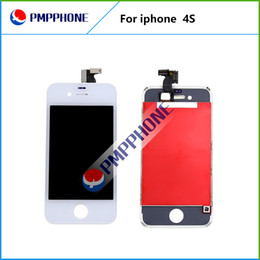 Good Quality 10 pcs lot Freeshipping LCD Display with Glass Touch Screen Digitizer Replacement For iPhone 4s