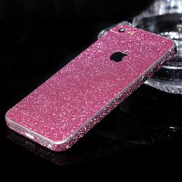 Descuento iphone bling la rosa Al por mayor-lujo del brillo de la etiqueta engomada del caso de Bling cubierta del teléfono de oro rosa de plata fina Carcasa Funda Coque Capa Para para el iPhone de Apple 5 5S SE