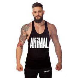 Wholesale New Gym shark ANIMAL Mens Tank Tops Stringer Bodybuilding Equipment Fitness Men s GYM Tanks Sports Clothes Gymshark Sports apparel from men
