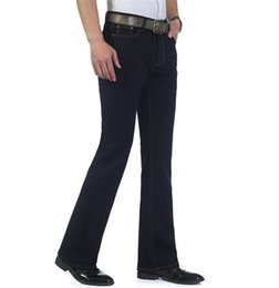 Wholesale Mens Blue Black Jeans Plus Size to Jeane Flare Bell Bottom Flare Boot Cut leg Slightly Pants Trousers For Men