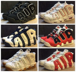 Wholesale 2016 Air More Uptempo OG Olympic Varsity Red Asia Hoop Pack White Gum Basketball Shoes For Men Women Big Pippen Sport Sneakers Trainers