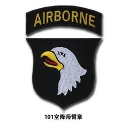 GPF-32 2016 3D Embroidered Pacth with magic tape 2.7'' Armband Eagle New US Army 101st Airborne Division Patch Subdue Sew on patch