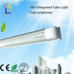 Wholesale Surface Mount Bright White Led - Free shipping New Integrated T8 V Tube Super bright Light 50pcs lot with 24-60W,108 176 192 240 288Leds,Led indoor light