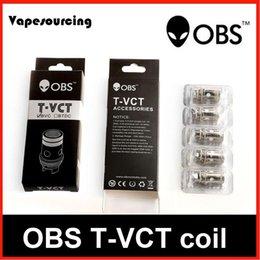OBS Bobina de T-VCT 0.25ohm Bobina de T-BTDC 0.5 Ohm Ajuste para el tanque de T-VCT Cigarrillo electrónico original desde la electrónica de apv proveedores